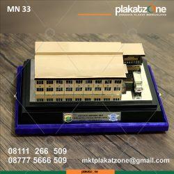 miniatur gedung materiil sbst polda metro jaya
